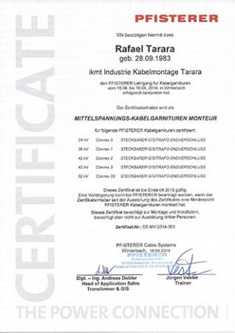 Pfisterer-Zertifikat